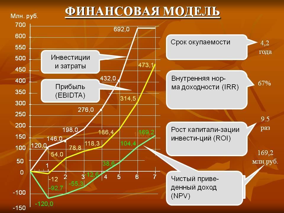 пример финансовой модели предприятия